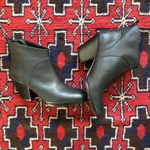 Rachel Comey Penpal Mars Booties, Black leather